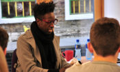 Saul also led a masterclass for young poets at the Fighting Words Creative Writing Centre